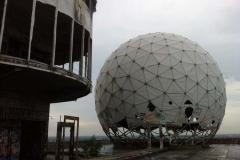 Ancien observatoire américain de Teufelsberg (montagne du diable), forêt de Grünewald, Berlin, Allemagne