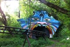 Train fantôme - Spreepark, parc d'attractions abandonné, Treptower Park, Berlin, Allemagne