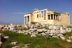 L'Erechthéion sur l'Acropole, Athènes, Grèce