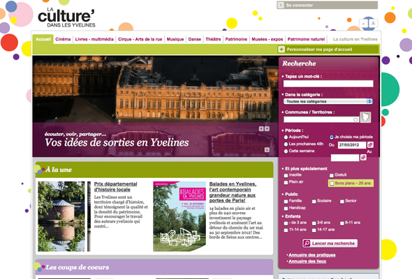 Culture Yvelines : site et application iPhone