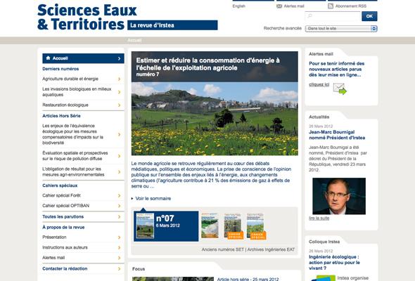 Revue en ligne Sciences, Eaux et Territoires